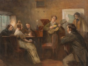 Schubert Playing Guitar